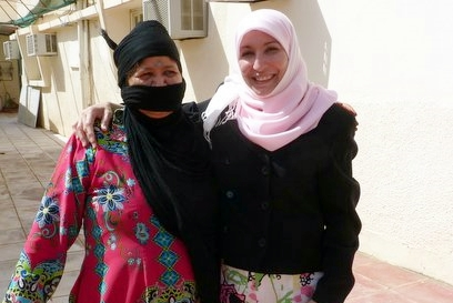 Naimeh Hadidi with Saudi woman