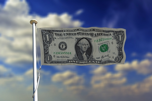 Dollar as flag